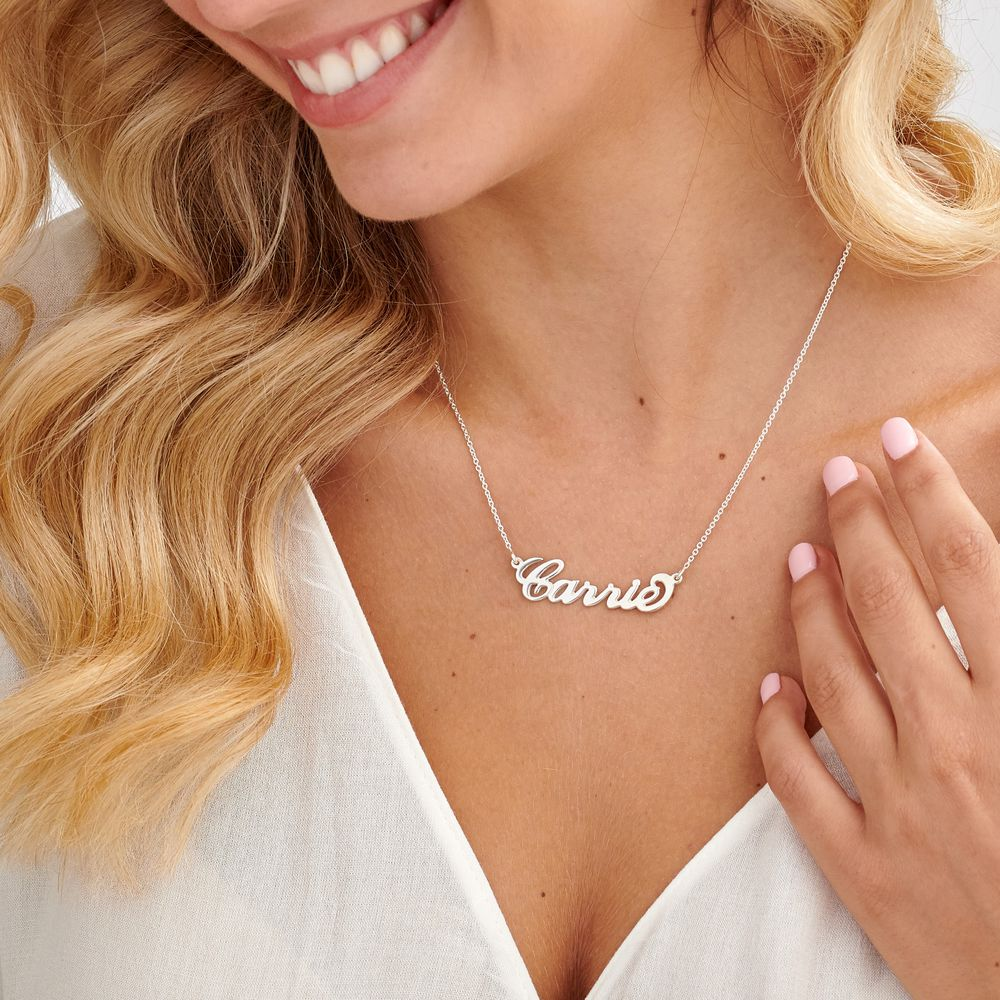 Silver Name Necklace - Carrie Style - 1