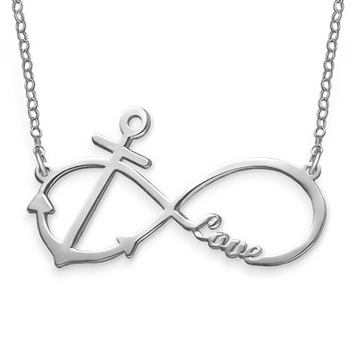 Personalised Infinity Anchor Necklace
