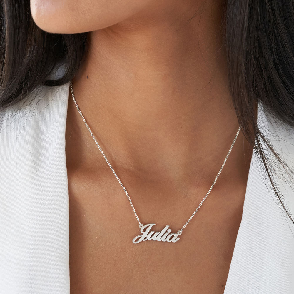 Small Sterling Silver Classic Name Necklace - 2