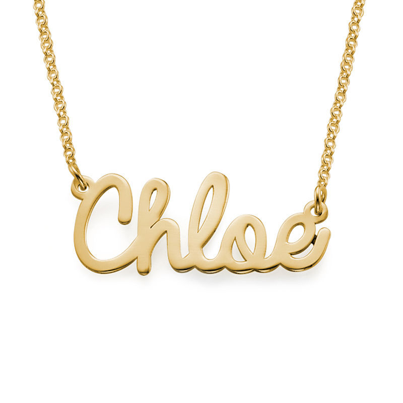 Personalised Jewellery - Cursive Name Necklace in 18ct Gold Plating