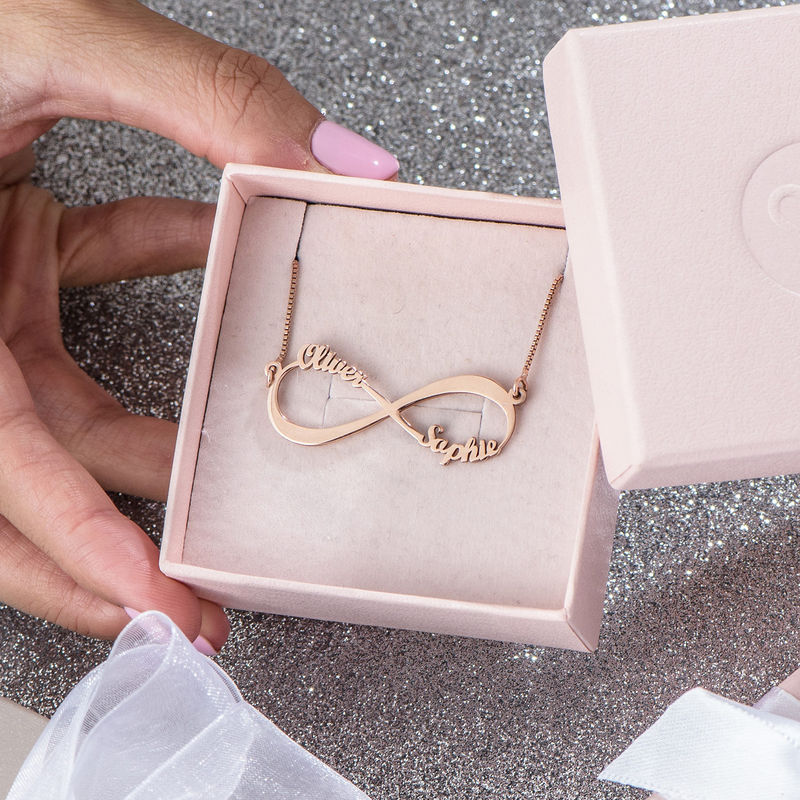 Infinity Name Necklace in Rose Gold Plating - 5