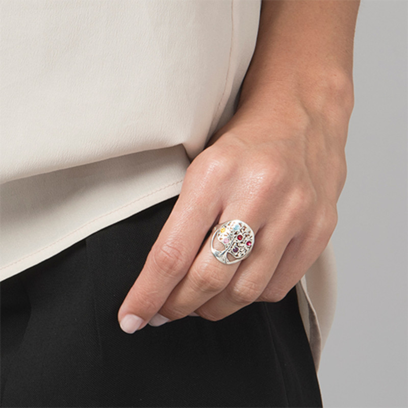 Family Tree Jewellery - Birthstone Ring - 3
