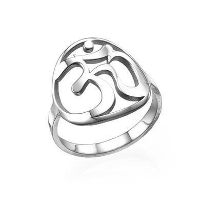 Sterling Silver Om Ring
