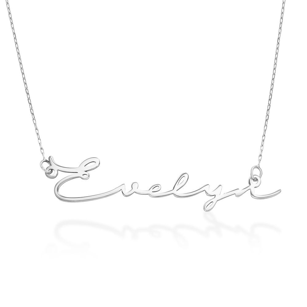 Signature Style Name Necklace - White Gold