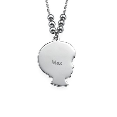 Silhouette Necklace in Sterling Silver - 1