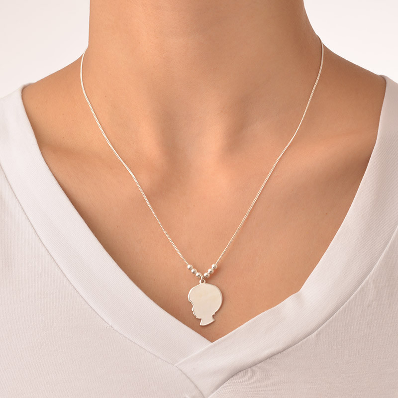 Silhouette Necklace in Sterling Silver - 4