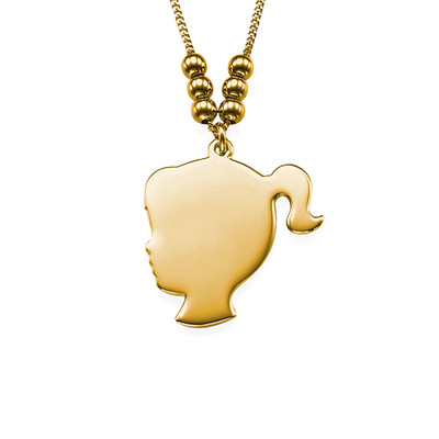 18ct Gold Plated Silhouette Necklace