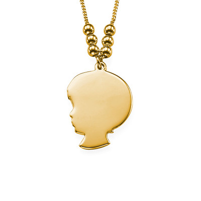 18ct Gold Plated Silhouette Necklace - 2