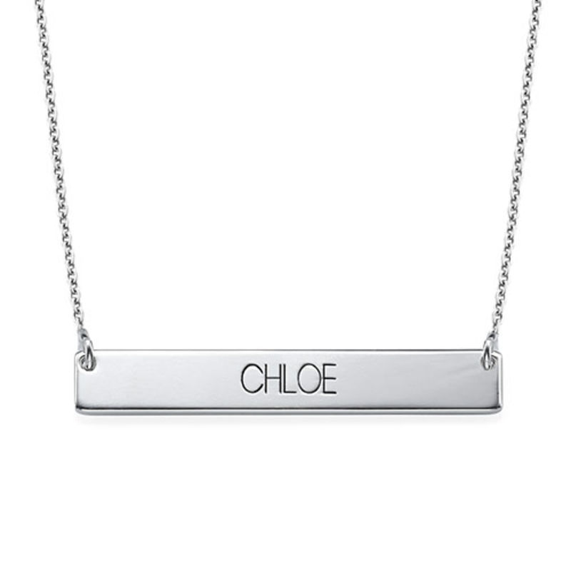Bar Necklace in All Capital Letters
