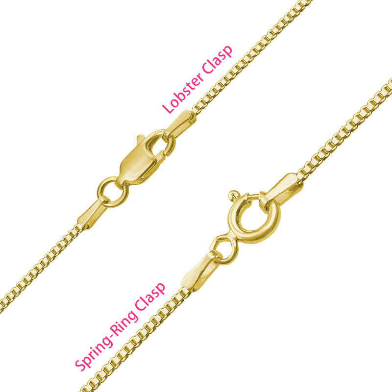 All Capitals Bar Necklace - Gold Plated - 2
