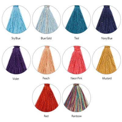 Tassel Necklace with Engraved Vertical Bar - 1