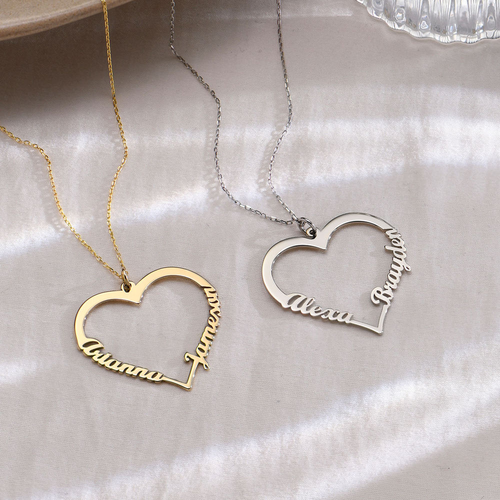 10ct Gold Heart Necklace - 1
