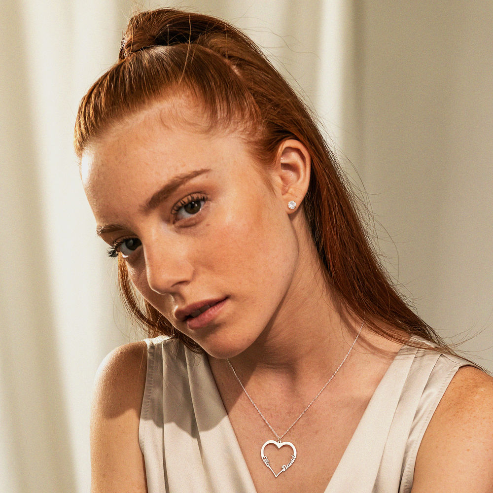 Silver Heart Necklace in 940 Premium Silver  - 1