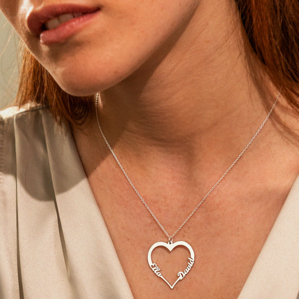 Silver Heart Necklace in 940 Premium Silver  - 2