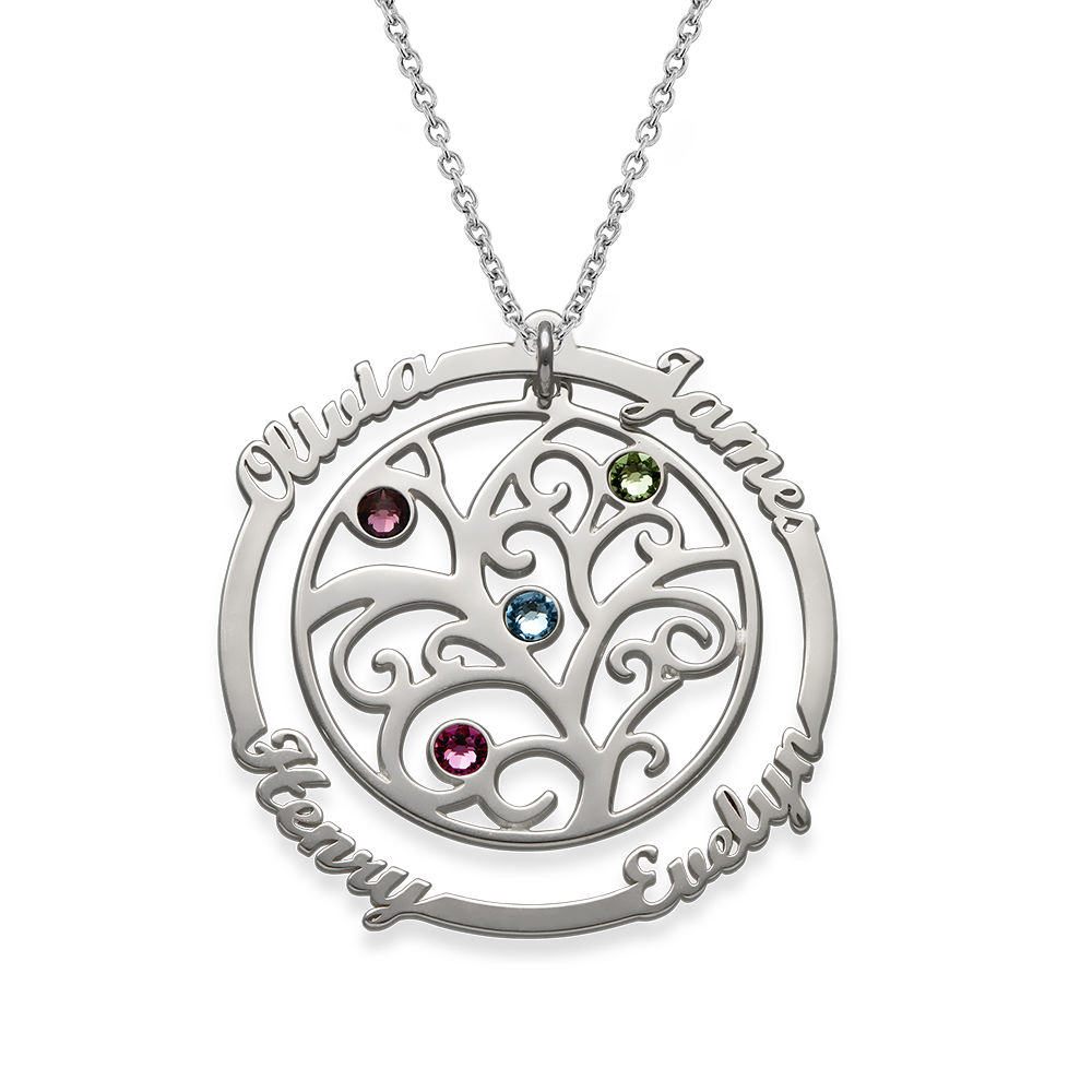 Birthstone Family Tree Necklace - My Everlasting Love Collection