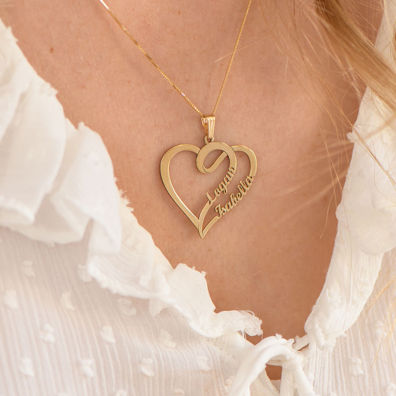 Couple Heart Necklace with Gold Plating - Yours Truly Collection - 3