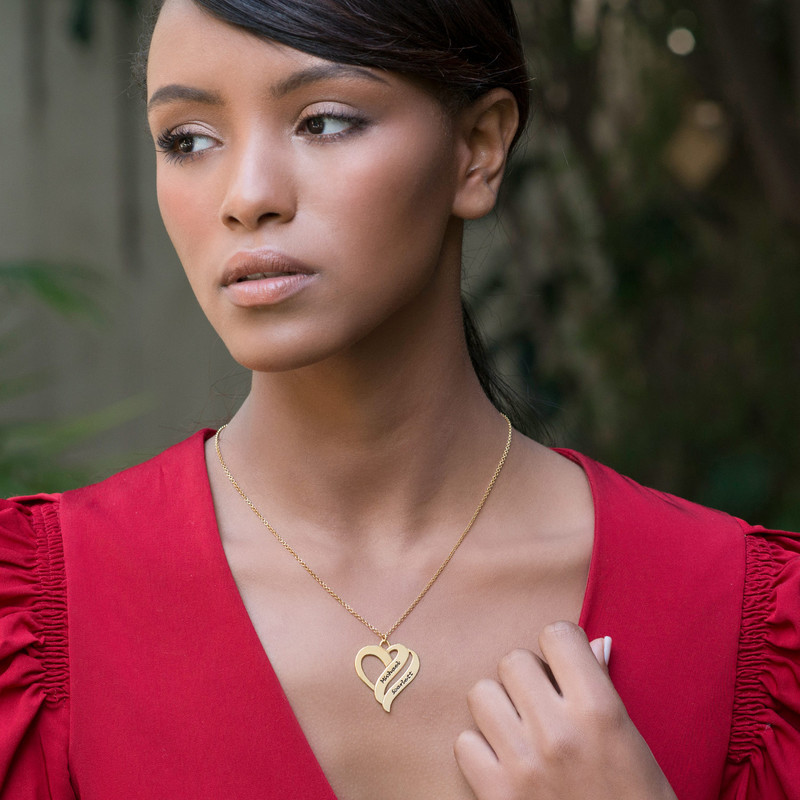 Two Hearts Forever One Necklace in 18ct Gold Plating - 2