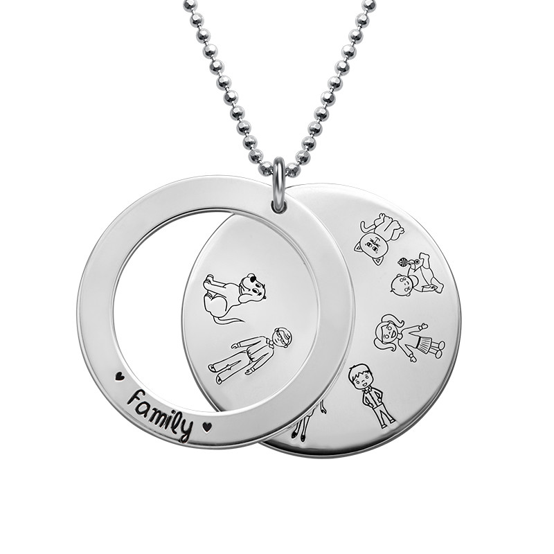 Family Necklace in Silver - 1