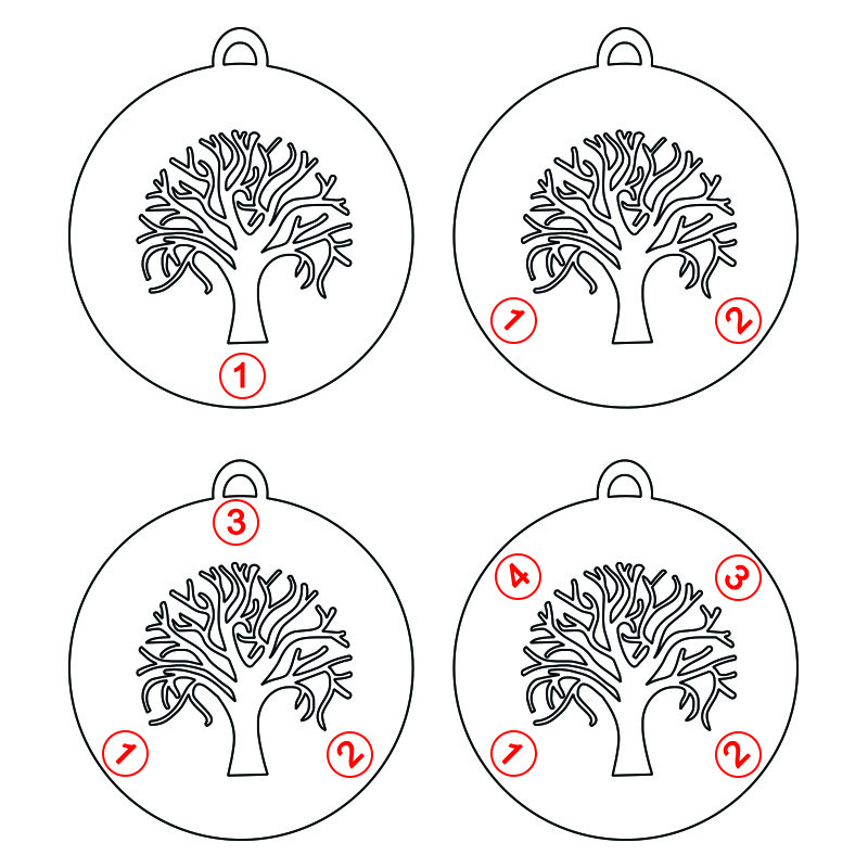 Cut Out Family Tree Necklace - 1