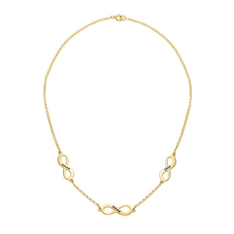 Multiple Infinity Necklace in Gold Plating - 1