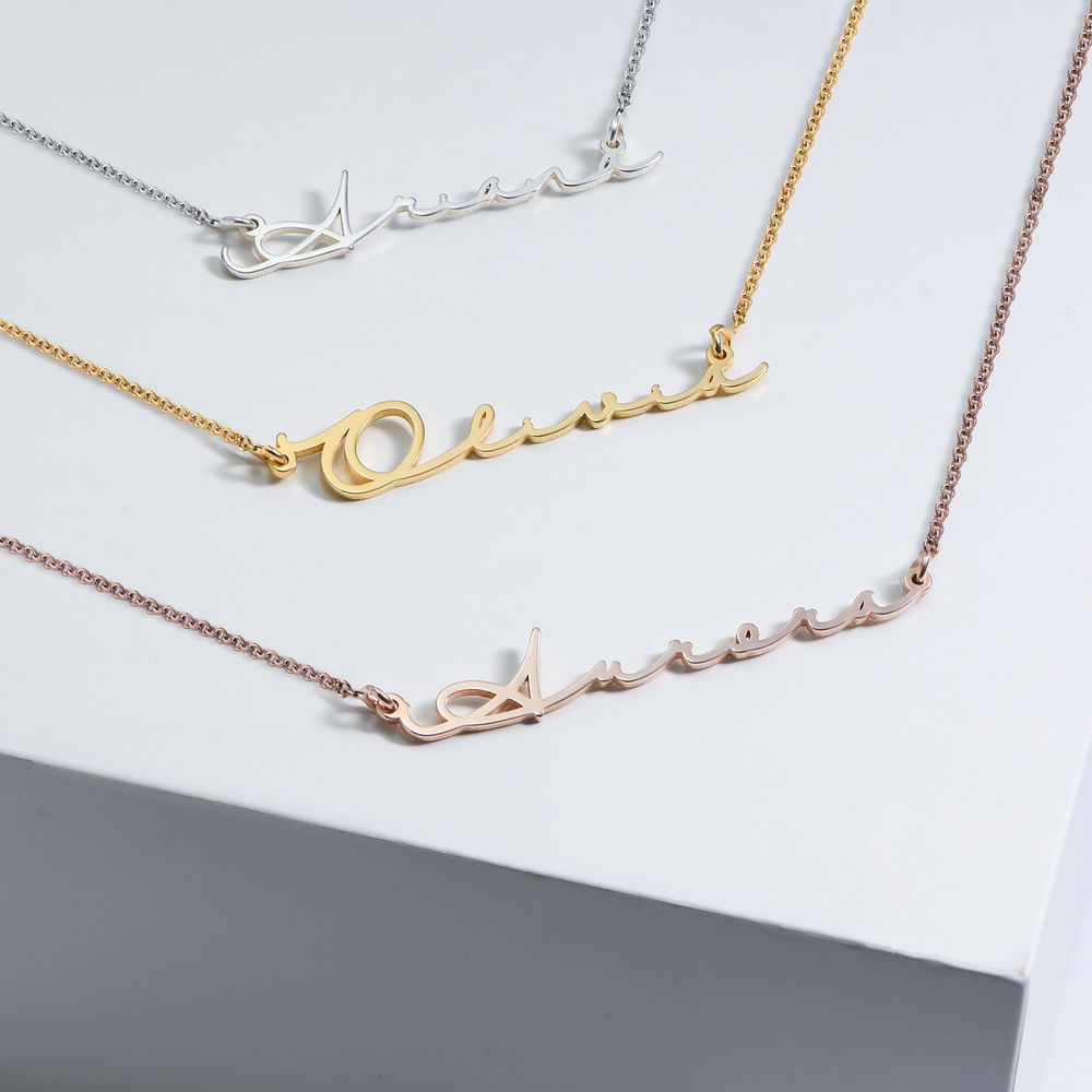 Signature Style Name Necklace - Gold Plated - 2