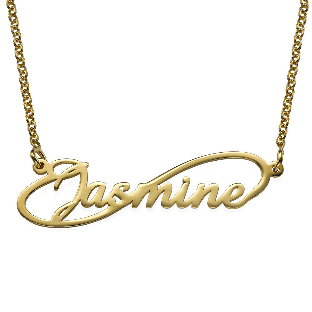 Infinity Style Name Necklace with 18ct Gold Plating