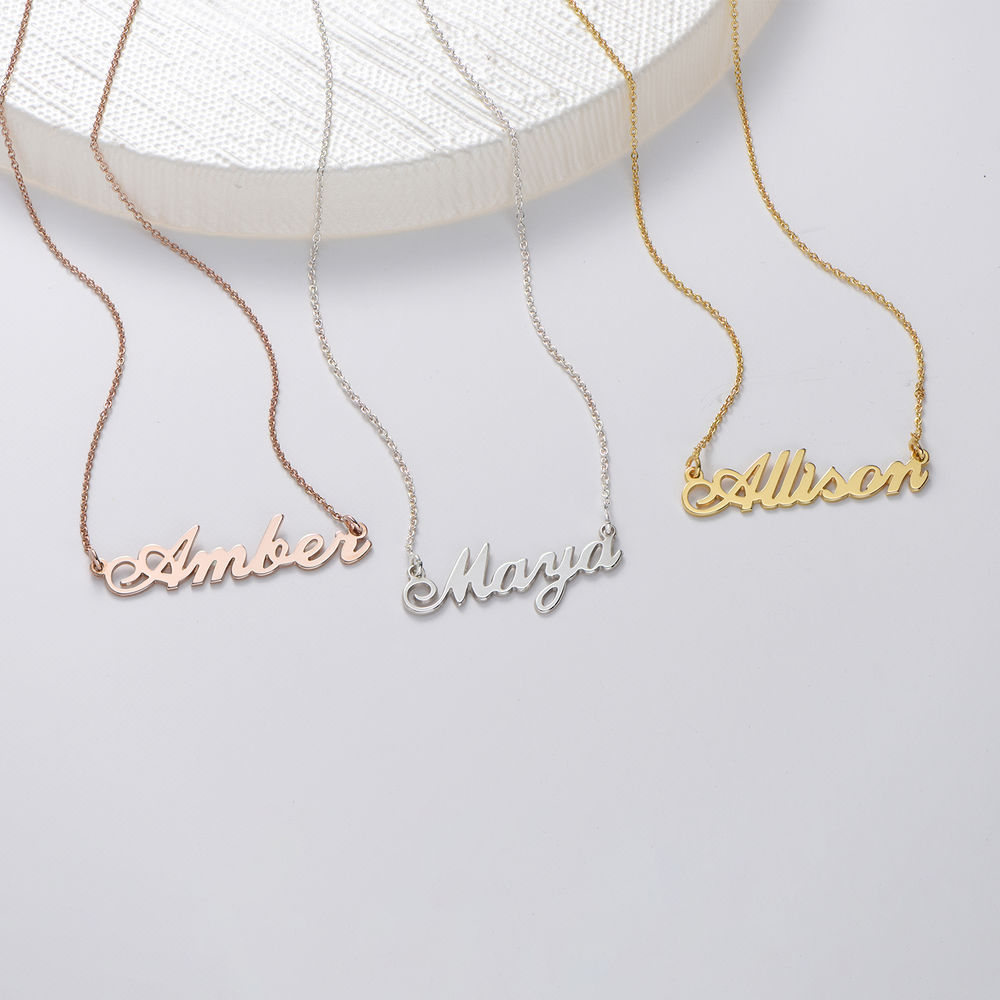 Small Gold Vermeil Classic Name Necklace - 1