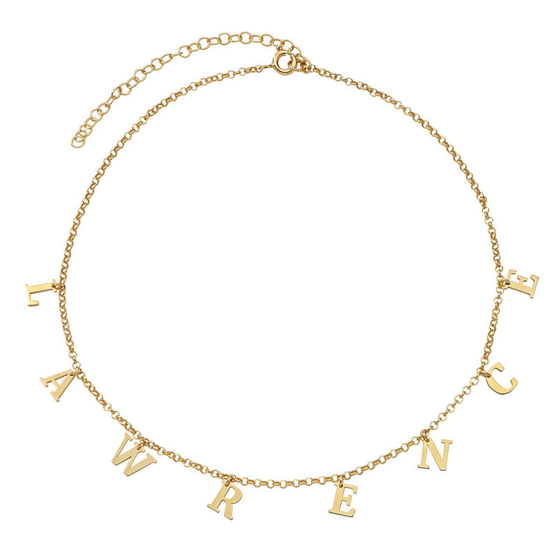 Name Choker with 18ct Gold Plating - 1