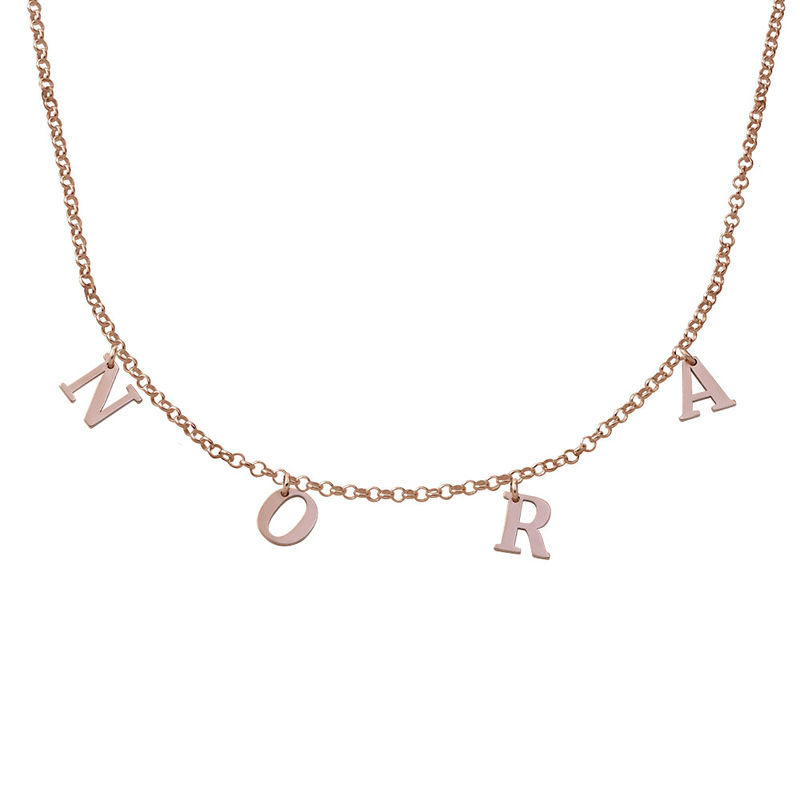 Name Choker with 18ct Rose Gold Plating
