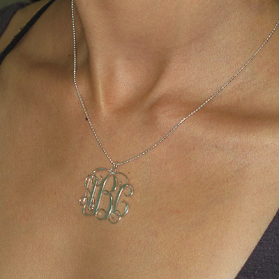 Sterling Silver Monogram Necklace - 3
