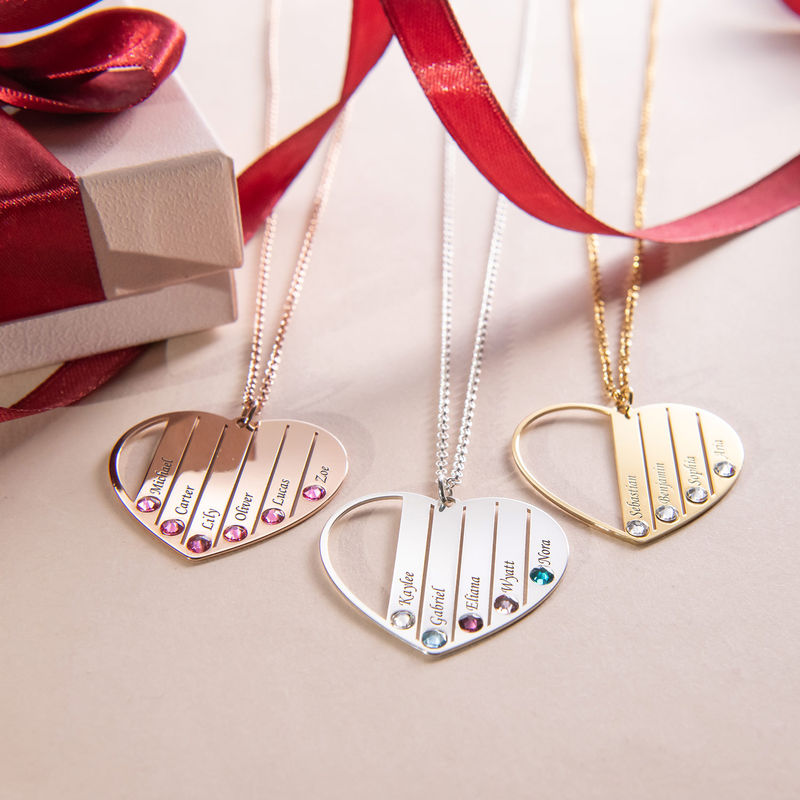 Mum Birthstone necklace in Rose Gold Plating - 3