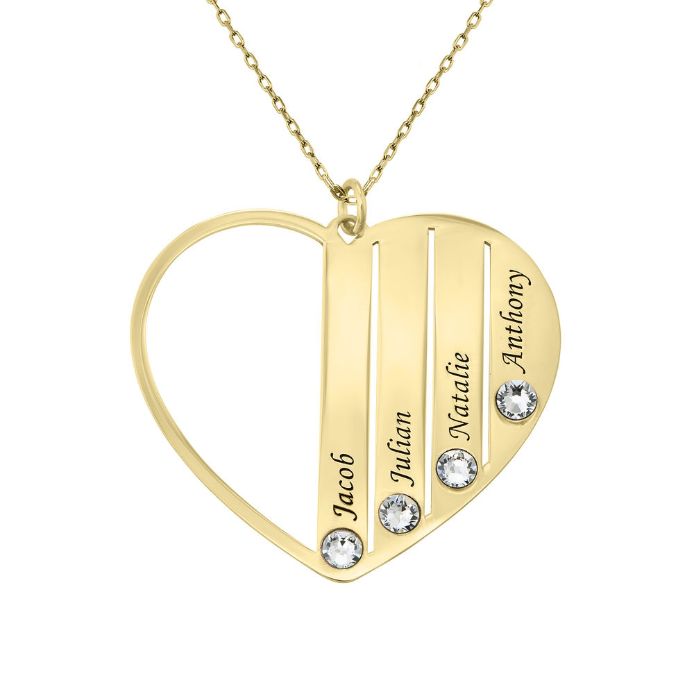 Mum Birthstone Necklace in Gold 10ct