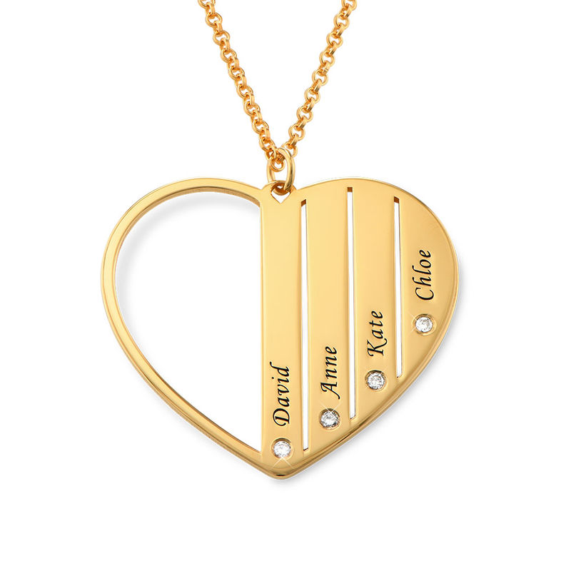 Mum Necklace in Gold Plating with Diamonds