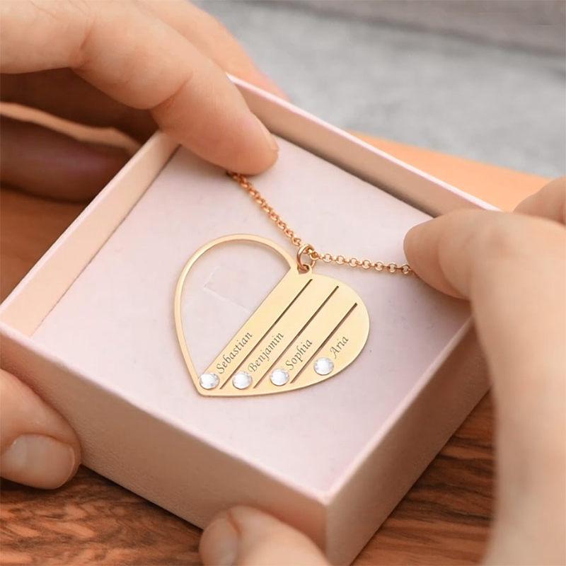 Mum Birthstone necklace in Vermeil - 6