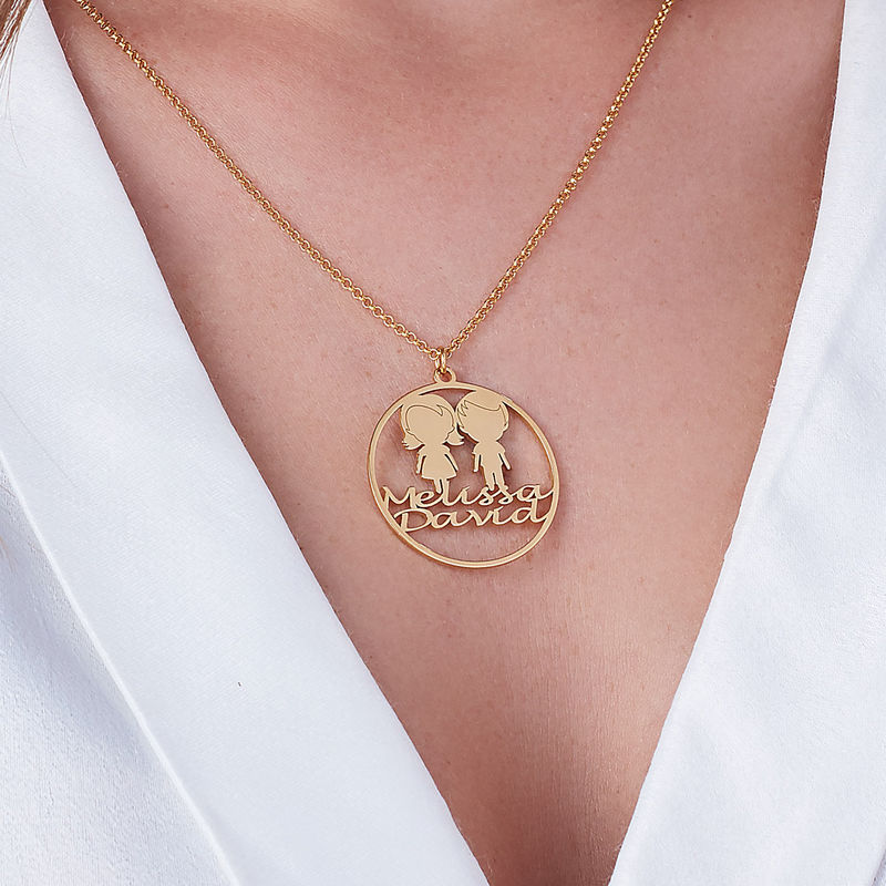 Mother Circle Necklace in Gold Plating - 2