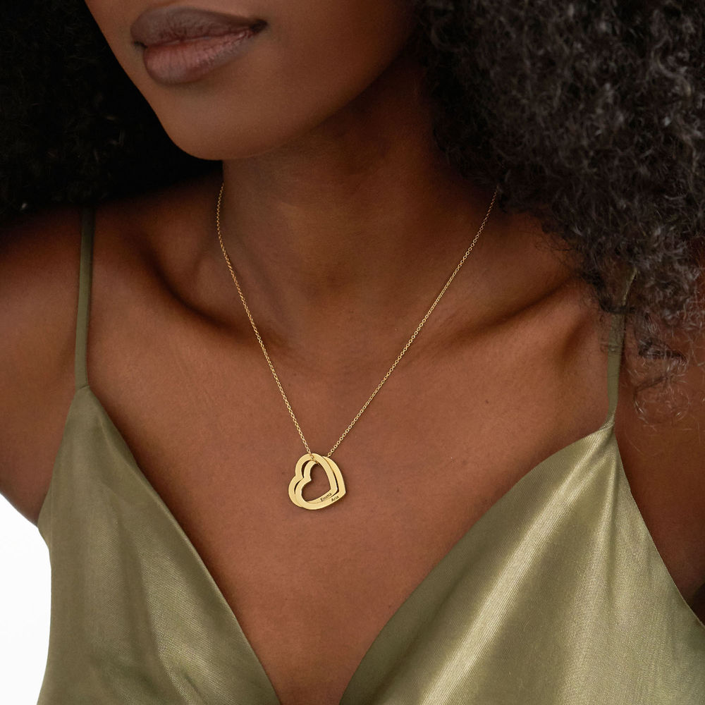 Interlocking Hearts Necklace with 18ct Gold Vermeil - 2