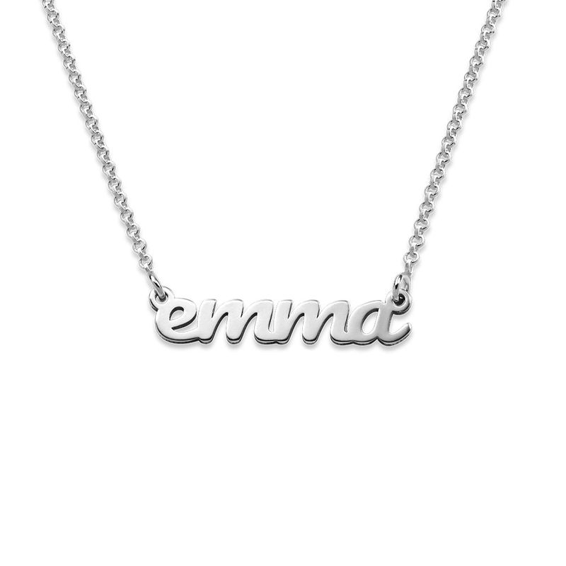 Script Name Necklace in Sterling Silver - 1