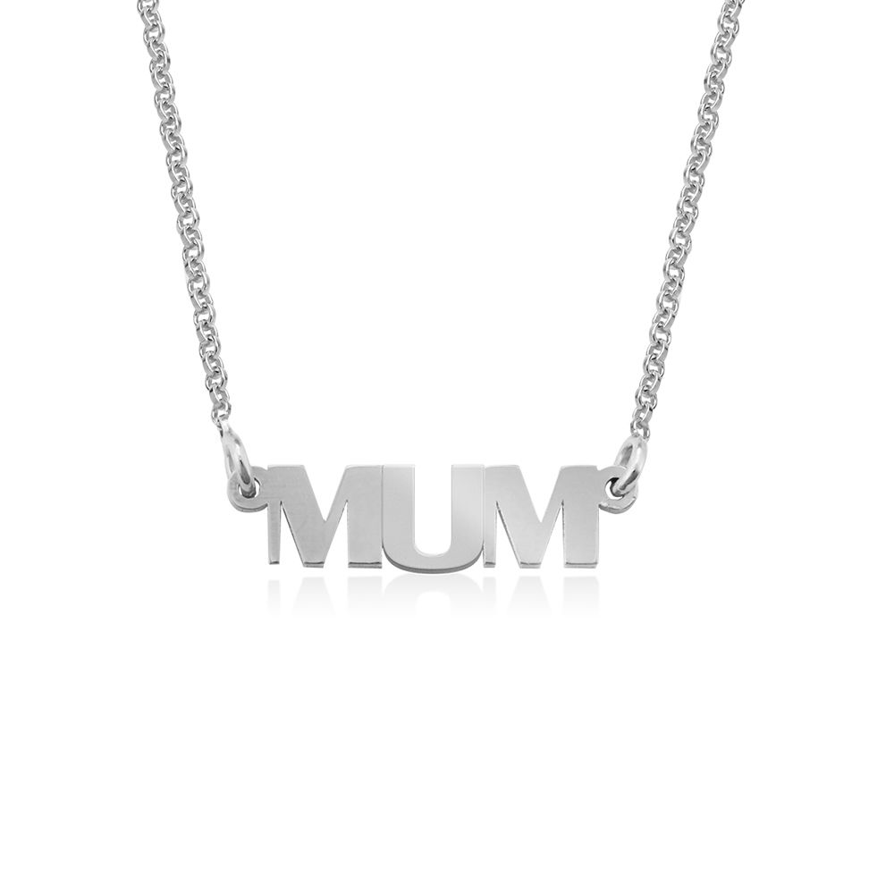 Capital Letters Name Necklace in Sterling Silver