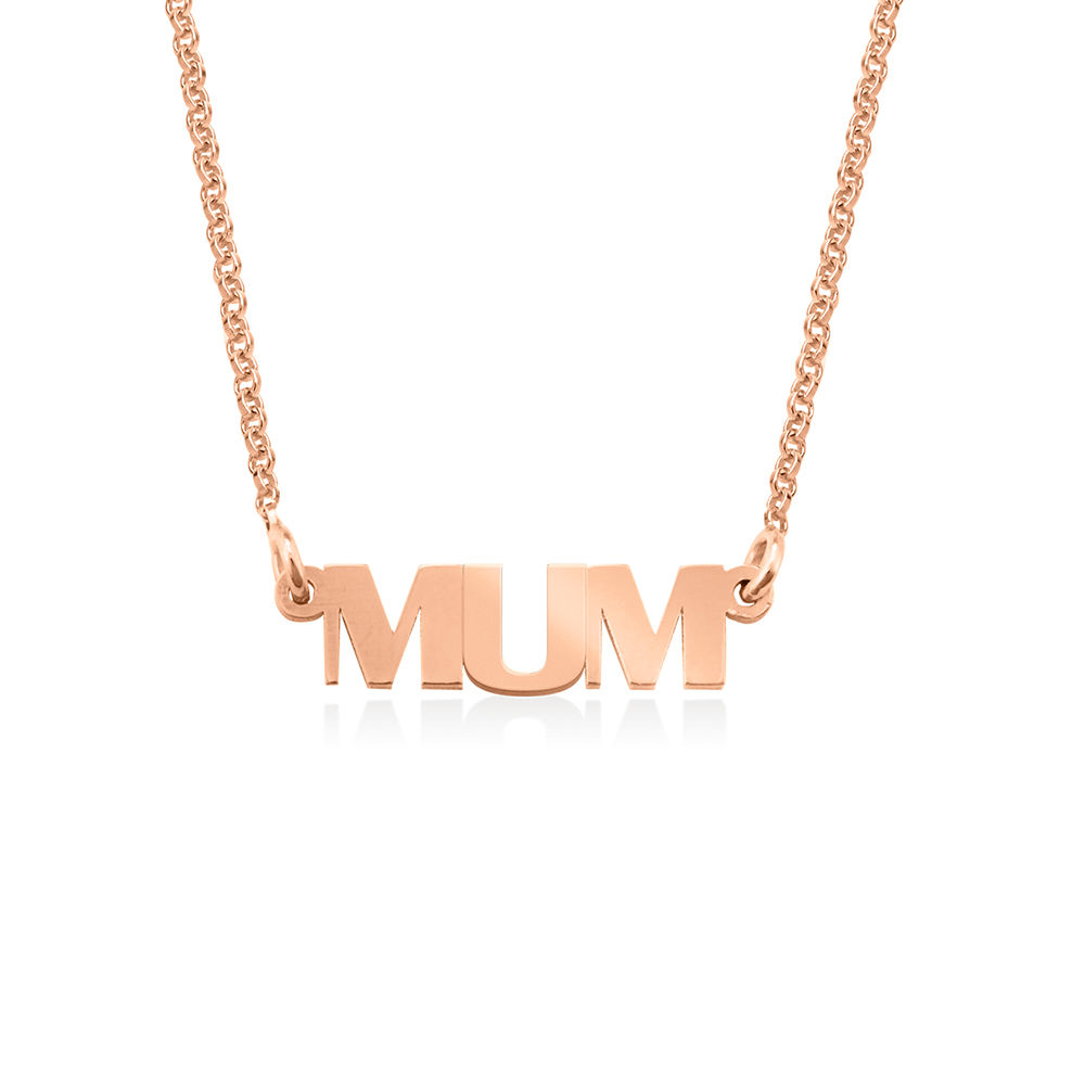 Capital Letters Name Necklace with 18ct Rose Gold Plating