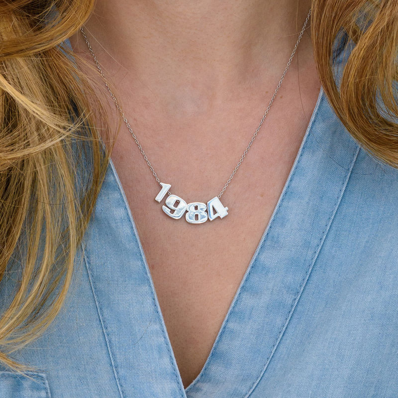 Number Pendant Necklace in Silver - 2