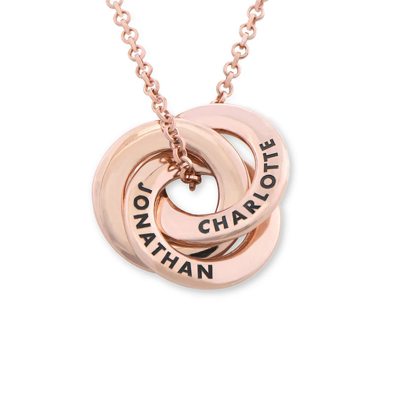 Russian Ring Necklace in Rose Gold Plated - Small Design