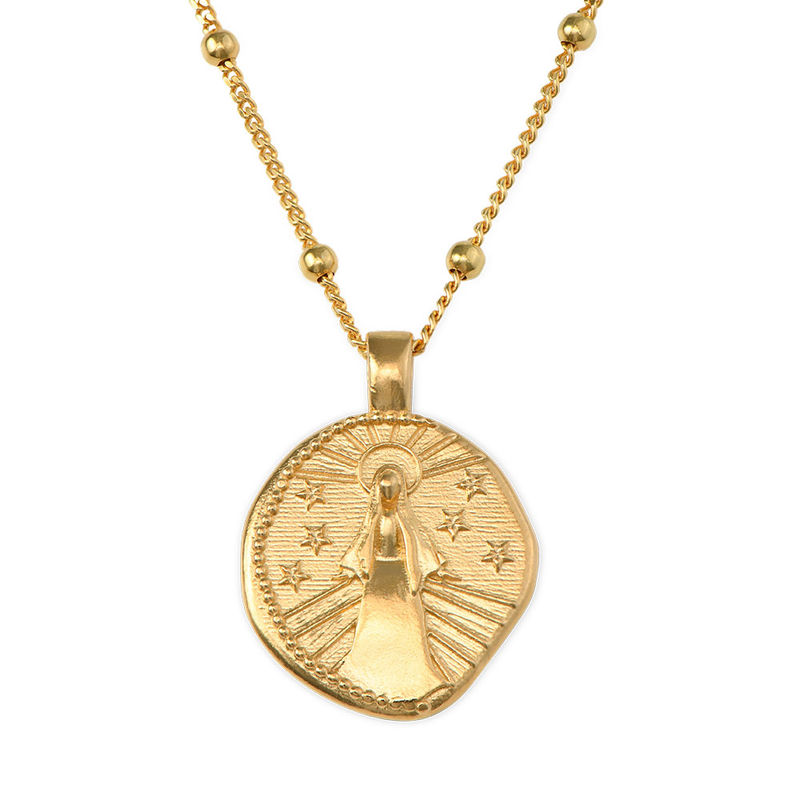 Mary Coin Necklace in Gold Plating