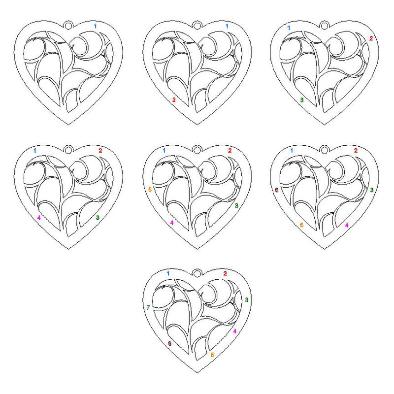 Heart Family Tree Necklace in Sterling Silver - 4