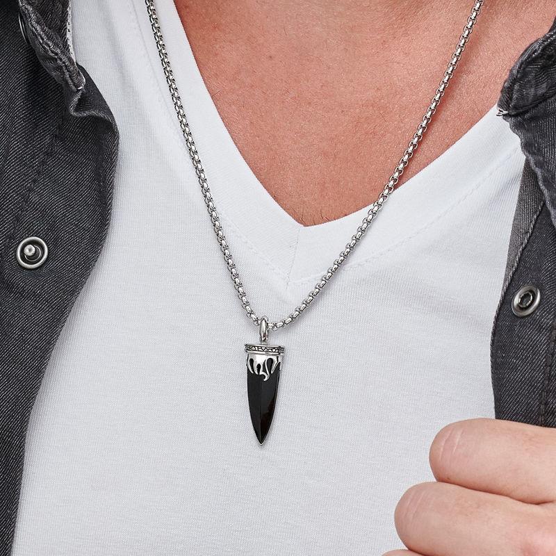 Men's Celtic Dagger Pendant Necklace - 3