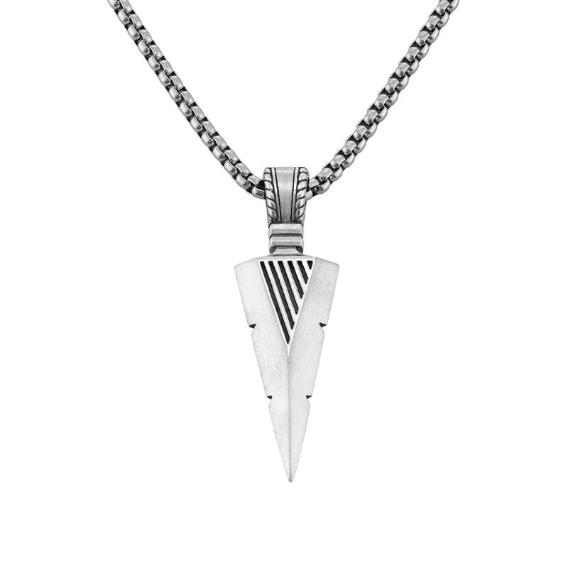 Arrow Necklace in Sterling Silver for Men