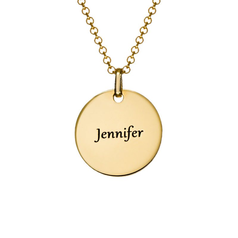 Unicorn Pendant Necklace in Gold Plating - 1
