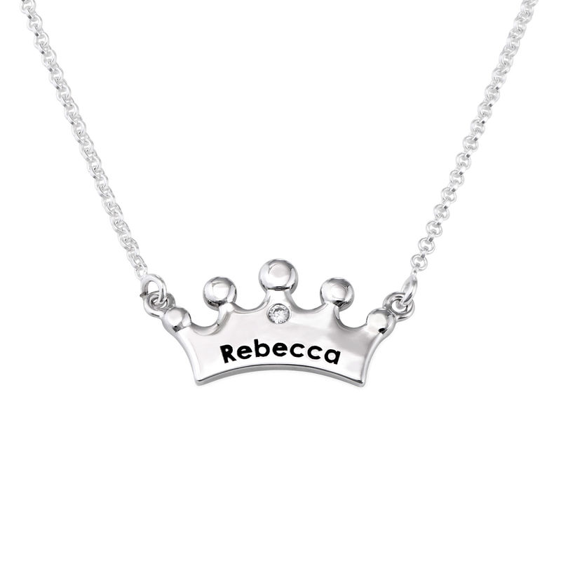 Princess Crown Necklace for Girls with Cubic Zirconia