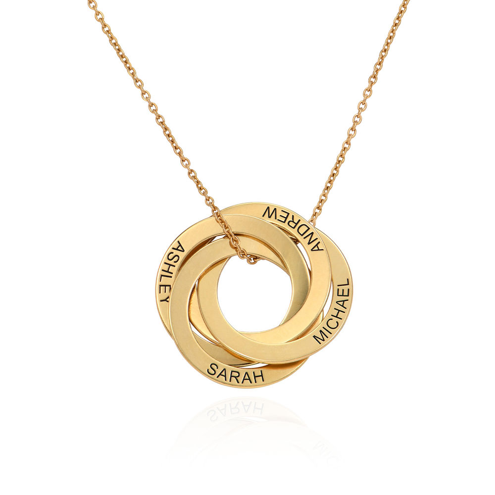 4 Russian Rings Necklace in Gold Plating