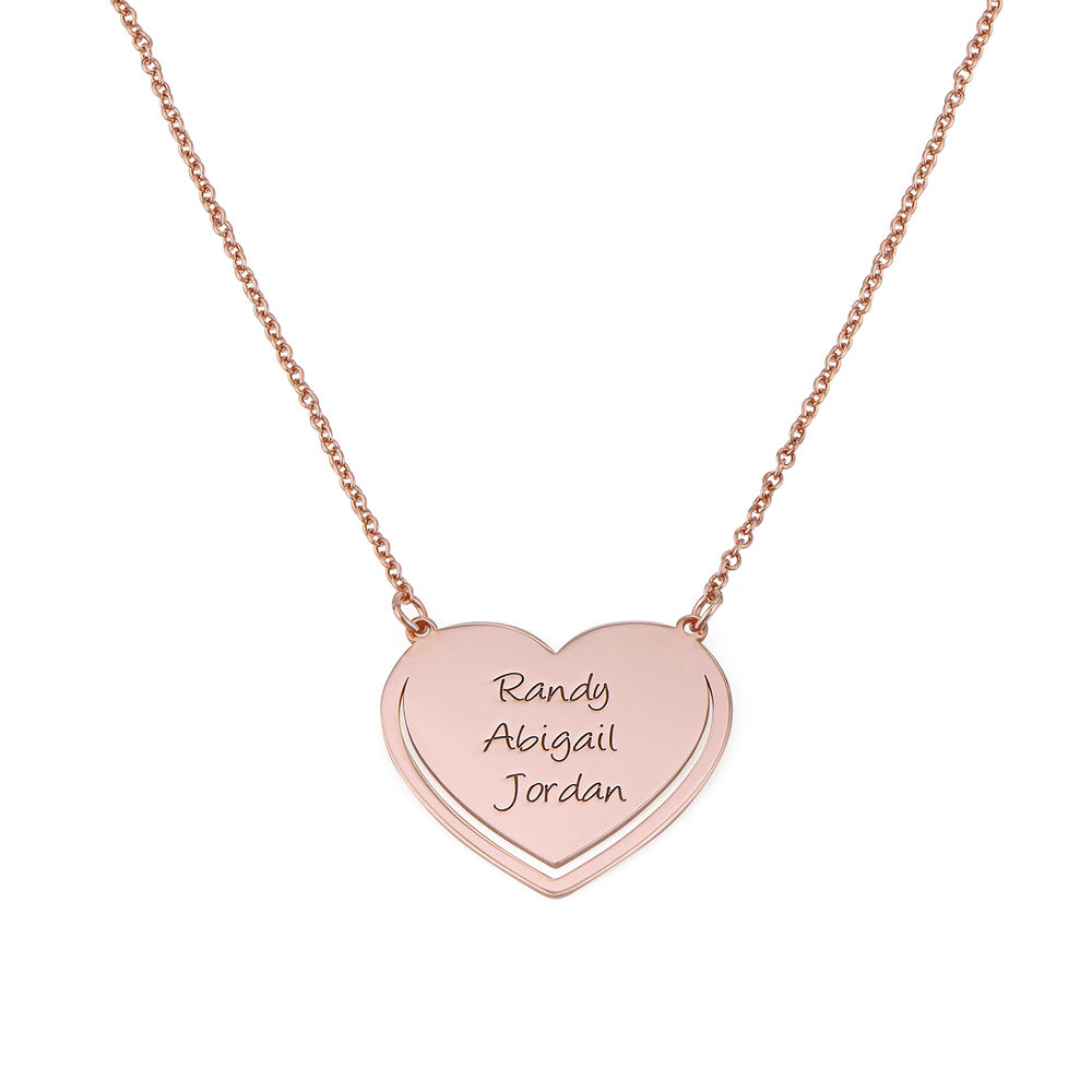 Personalised Heart Necklace in Rose Gold Plating