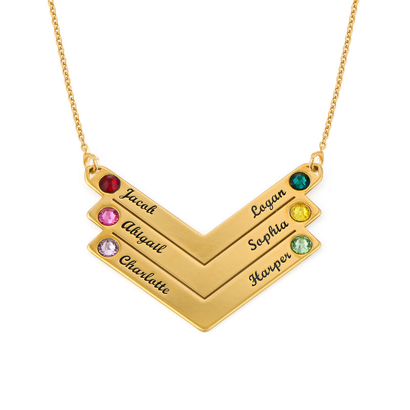 Swarovski Personalised Family Necklace in Gold Plating - 1